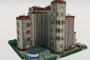 Житлово-офісний комплекс з підземним паркінгом площею 104 000м2